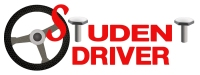 Steering Wheel With Red Colors Of Student Driver Sticker